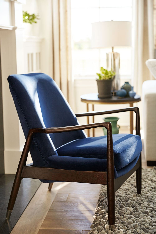 Mastro Accent Chair Blue American Signature Furniture