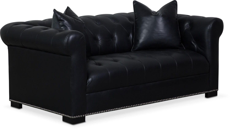 Couture Apartment Sofa - Black