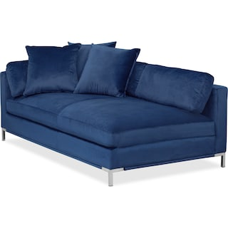 Moda Left-Facing Chaise - Blue