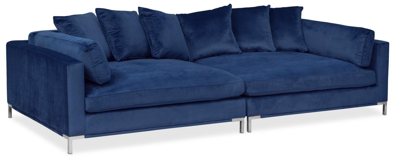 Blue Sofa Moda 2 Piece Sofa Blue American Signature Furniture