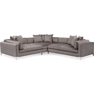 Moda 3-Piece Sectional with Right-Facing Chaise - Oyster