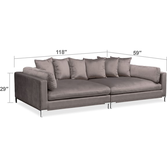 Moda 2-Piece Sofa | American Signature Furniture