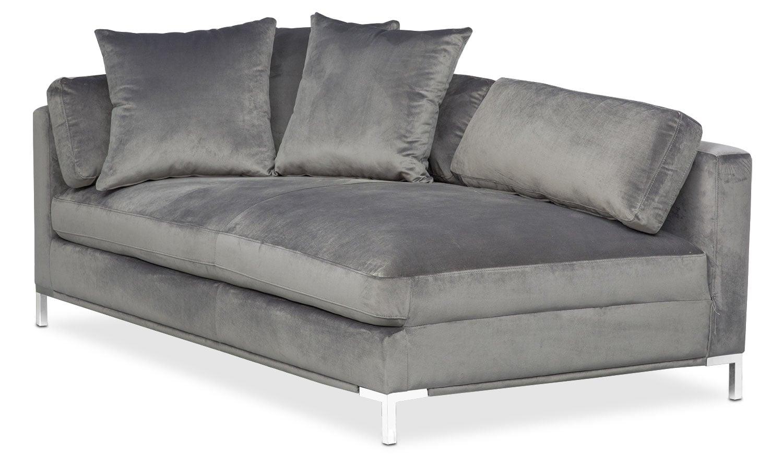 Moda Left-Facing Chaise - Gray