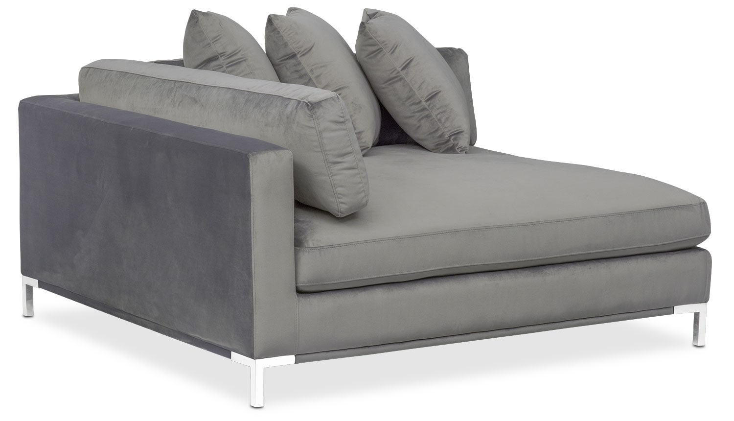 Moda 3 piece sectional with right facing chaise gray for 3 piece sectional with chaise