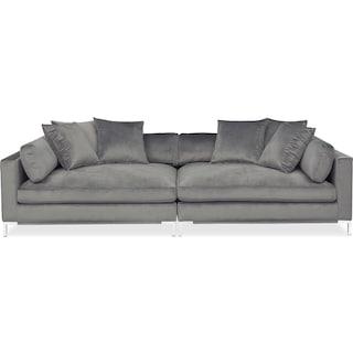Moda 2-Piece Sofa - Gray