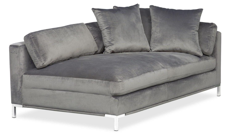 Moda Right-Facing Chaise - Gray