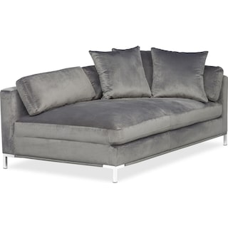 Moda Right-Facing Chaise - Gray
