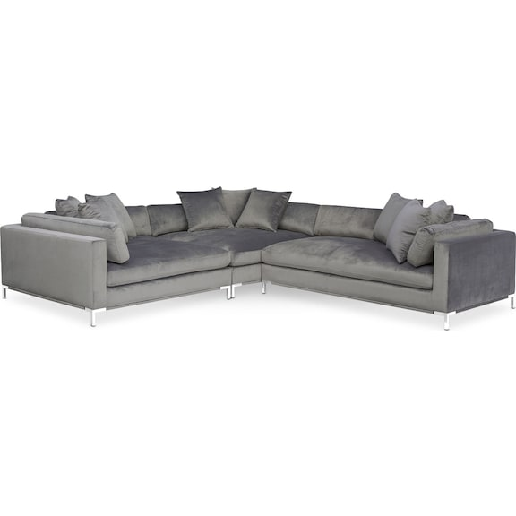 Astonishing Moda Sofa With Chaise In Devon Heather Baci Living Room Dailytribune Chair Design For Home Dailytribuneorg