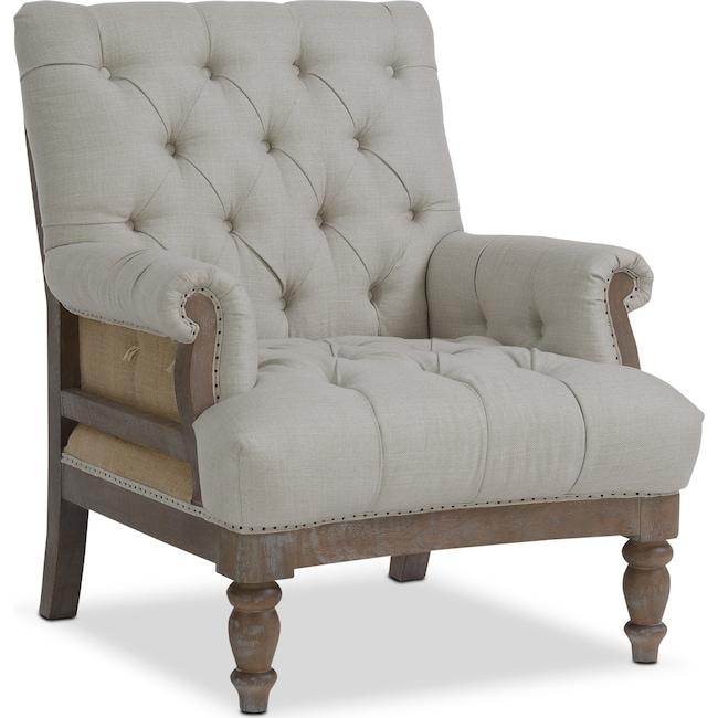 Living Room Furniture - Bridget Accent Chair - Cream