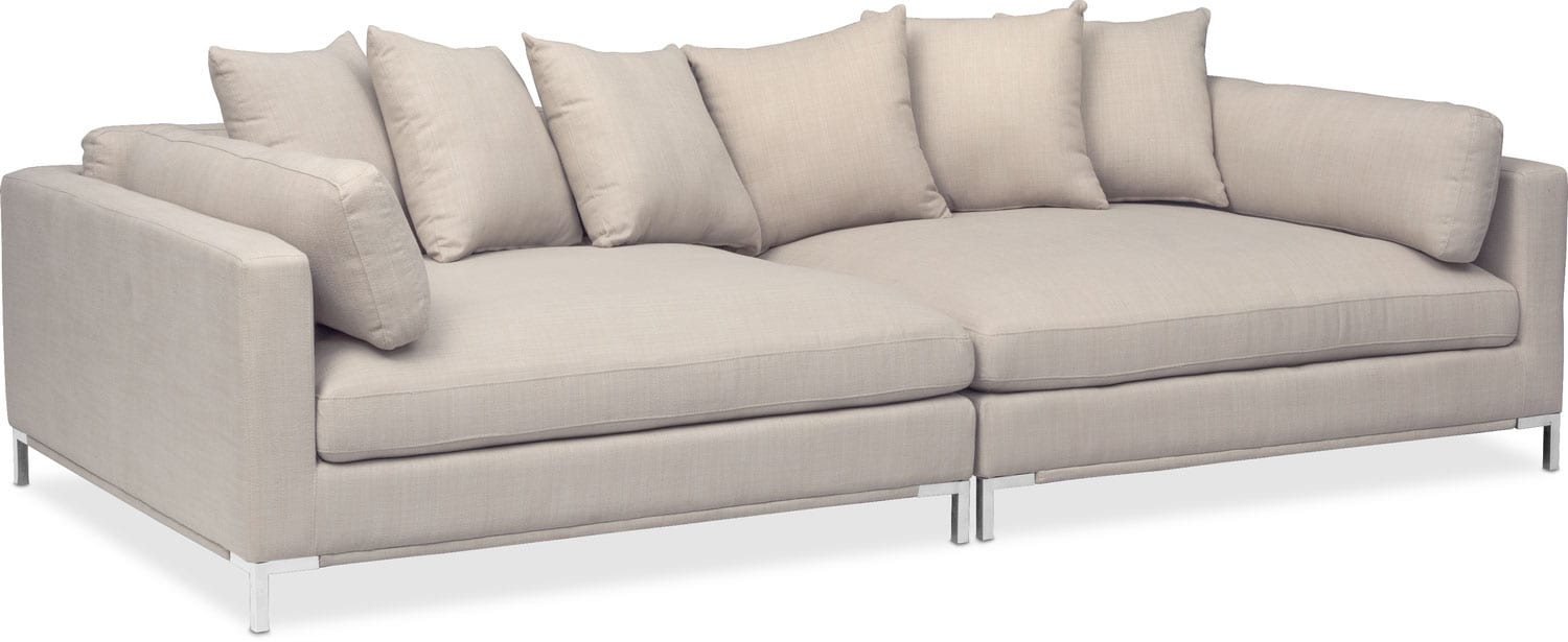 moda 2 piece sofa ivory american signature furniture