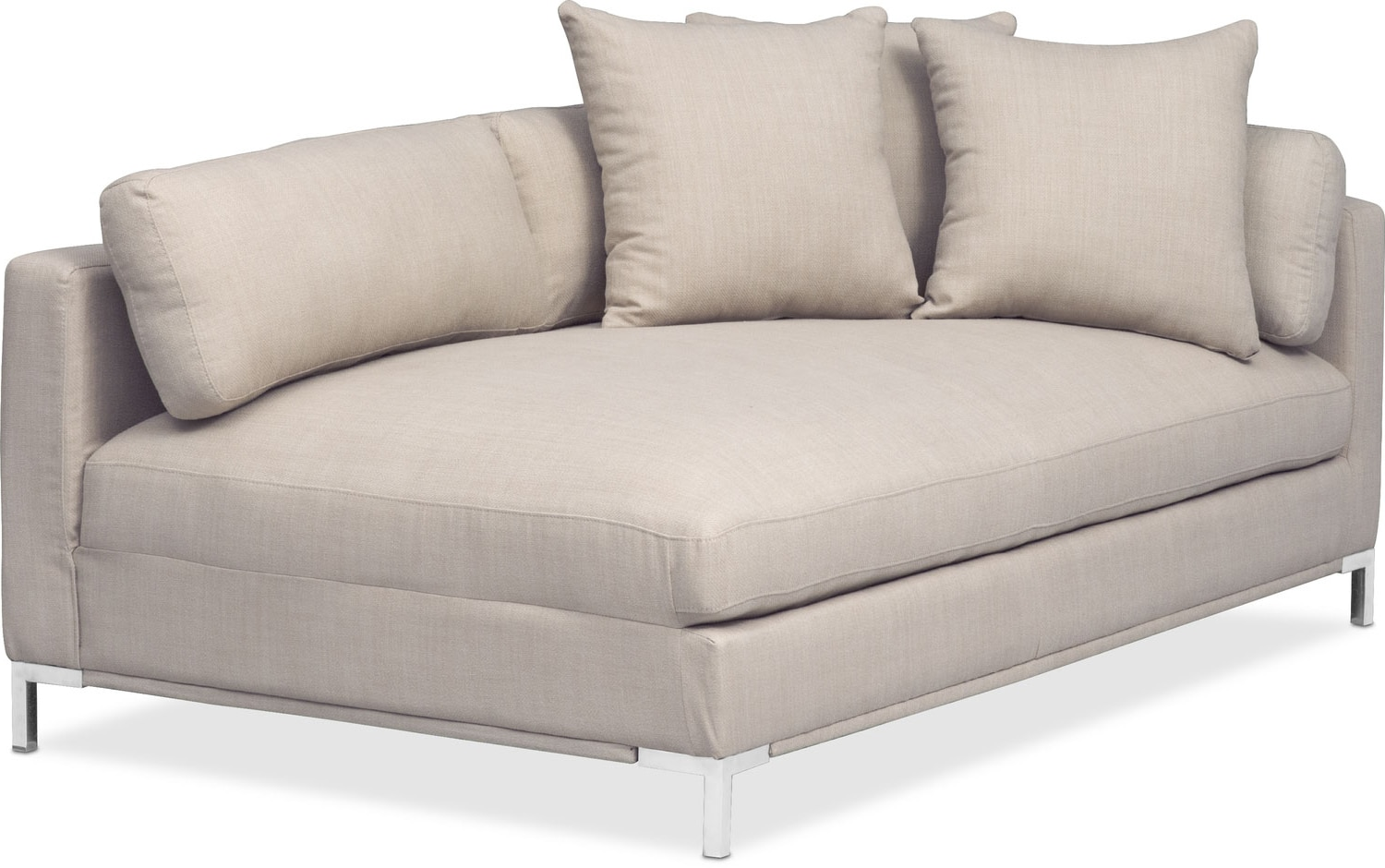 Moda Right-Facing Chaise - Ivory