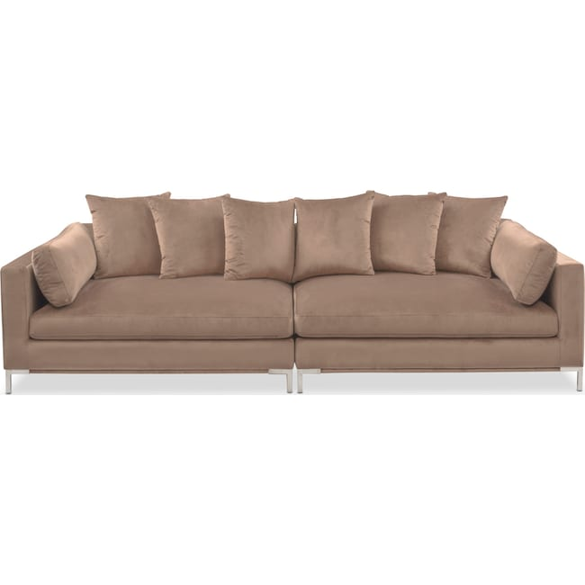 moda 2 piece sofa mushroom american signature furniture