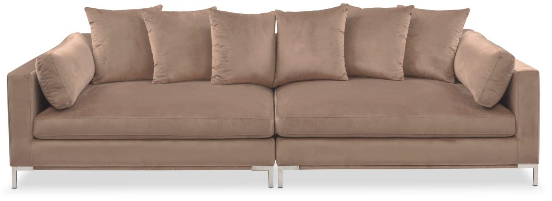 Living Room Furniture   Moda 2 Piece Sofa   Mushroom