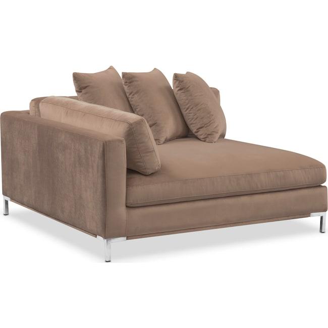 Living Room Furniture - Moda Corner Sofa - Mushroom