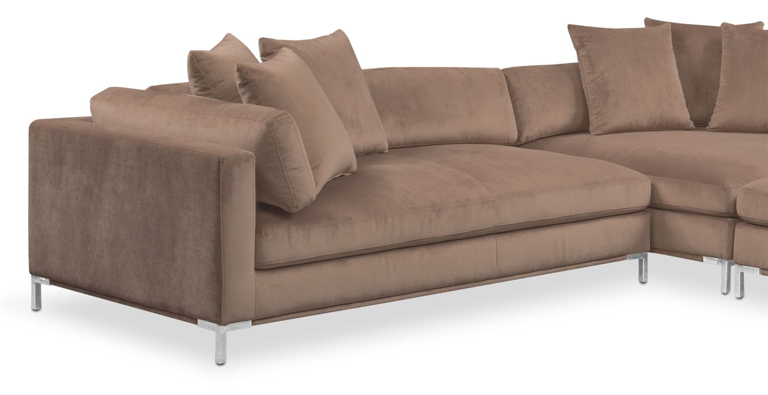 Moda 3 piece sectional with left facing chaise mushroom for 3 piece sectional with chaise