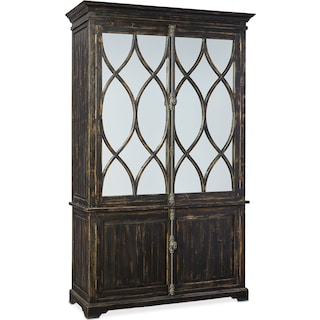 Dorchester Cabinet with Hutch - Rubbed Black