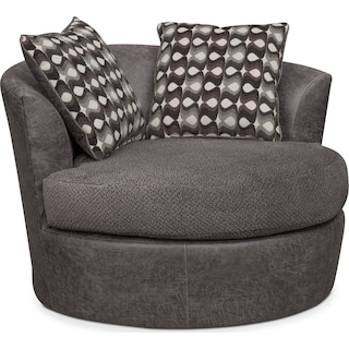 Brando Swivel Chair - Smoke