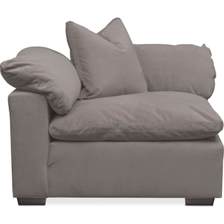 Plush Corner Chair - Gray