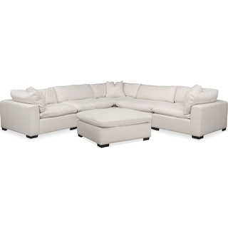 Plush 6-Piece Sectional - Anders Ivory