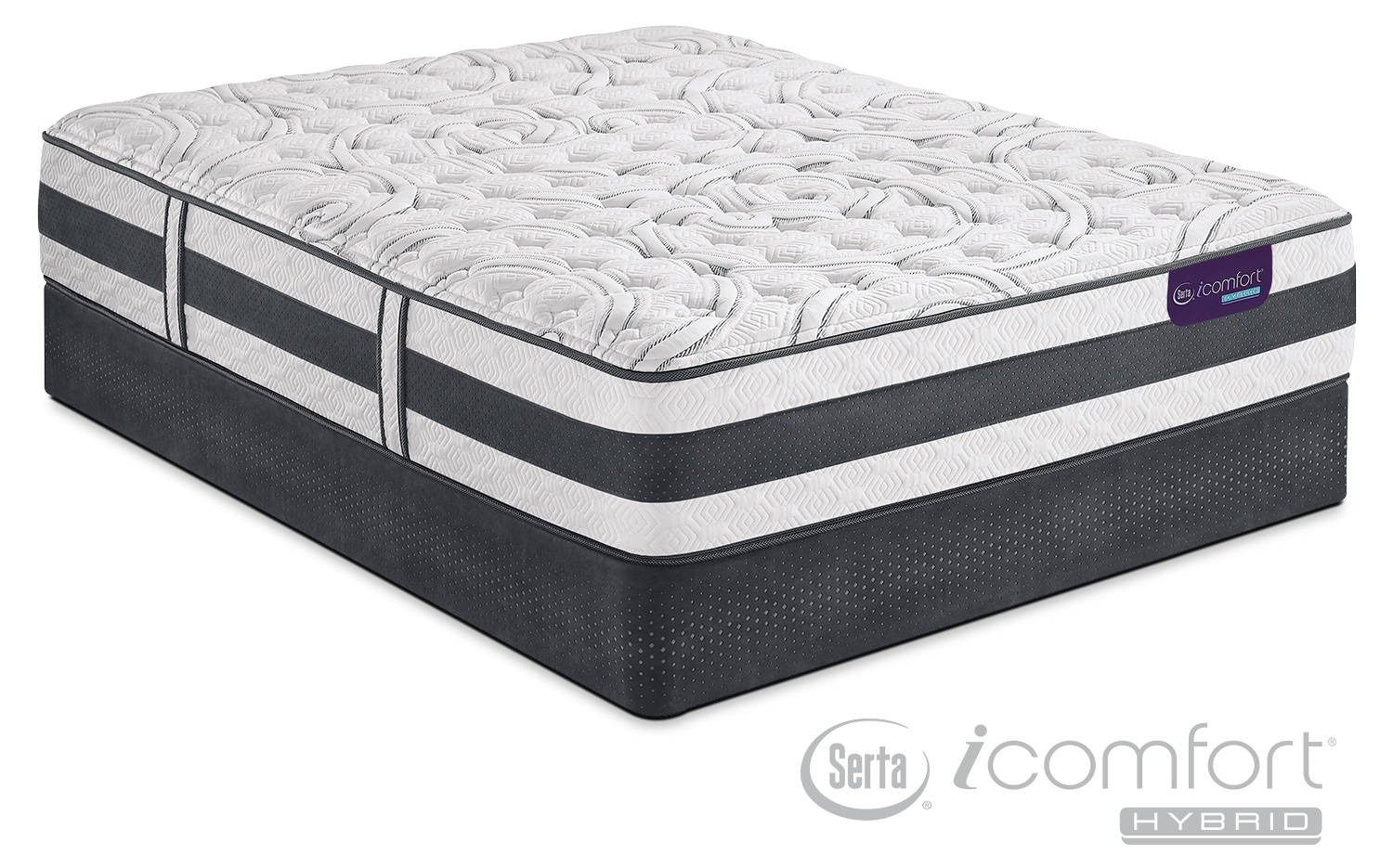 Applause II Firm Queen Mattress and Low-Profile Foundation Set