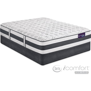 Applause II Firm Full Mattress and Low-Profile Foundation Set