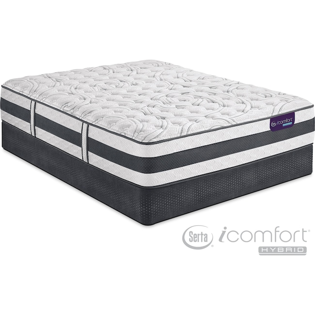 Mattresses and Bedding - Applause II Firm King Mattress and Split Foundation Set