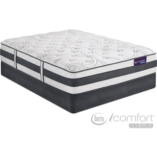 Recognition Plush King Mattress and Split Low-Profile Foundation Set
