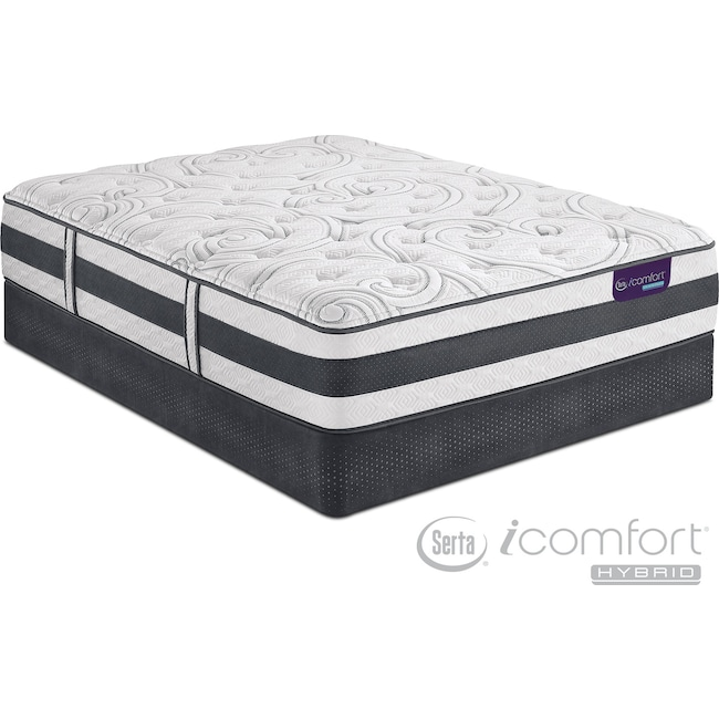 Mattresses and Bedding - Applause II Plush Full Mattress and Low-Profile Foundation Set