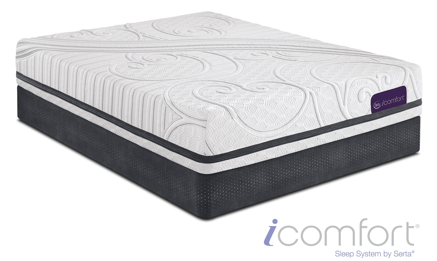 Savant III Plush Queen Mattress and Low-Profile Foundation Set