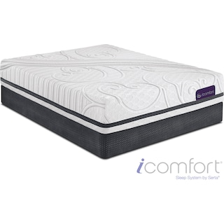 Savant III Plush King Mattress and Split Foundation Set