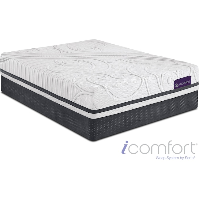 Mattresses and Bedding - Savant III Plush Full Mattress and Low-Profile Foundation Set