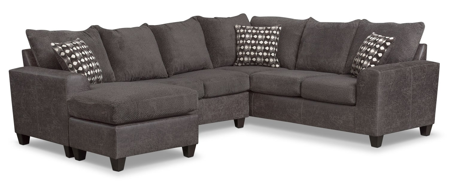 The Brando Sectional Collection - Smoke