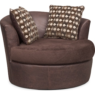 Brando Swivel Chair - Chocolate