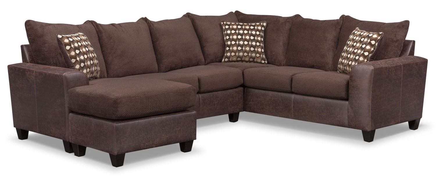 The Brando Sectional Collection - Chocolate