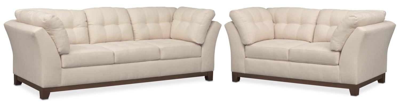 Living Room Furniture - Sebring Sofa and Loveseat Set