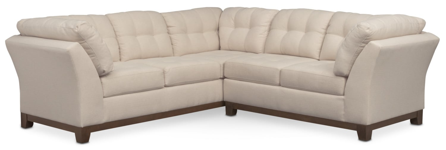 Was $1199.98 Today $1079.98 Sebring 2-Piece Sectional with Right-Facing Loveseat - Oyster by Kroehler  sc 1 st  American Signature Furniture : american signature furniture sectionals - Sectionals, Sofas & Couches