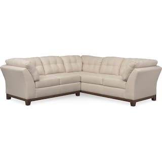 Sebring 2-Piece Small Sectional with Left-Facing Loveseat - Oyster