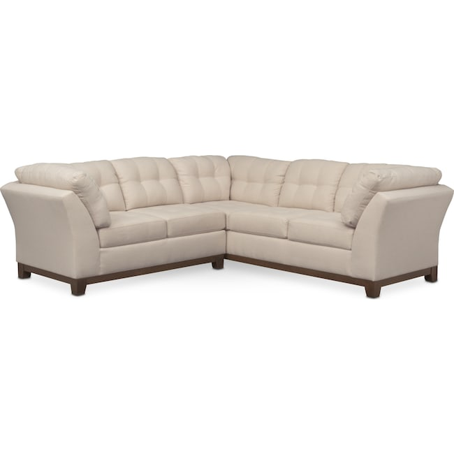 Living Room Furniture - Sebring 2-Piece Sectional with Left-Facing Loveseat - Oyster