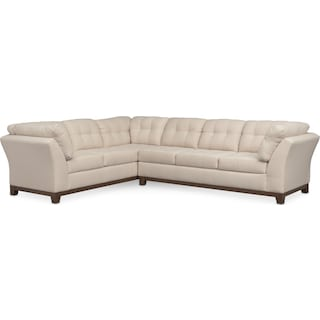 Sebring 2-Piece Sectional with Right-Facing Sofa - Oyster