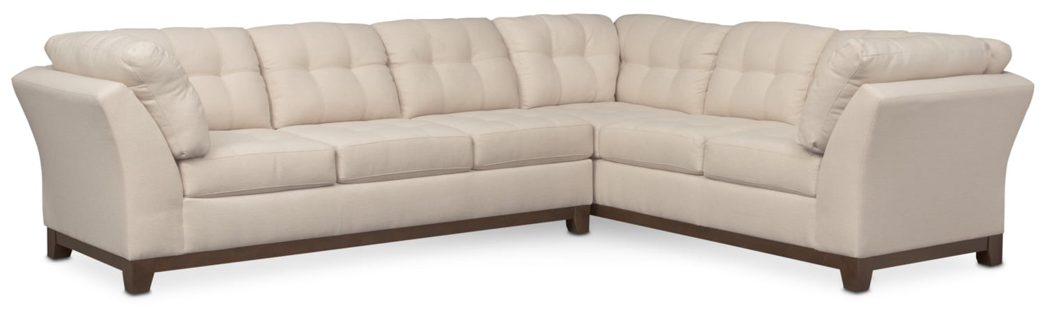 Sebring 2-Piece Sectional with Left-Facing Sofa - Oyster