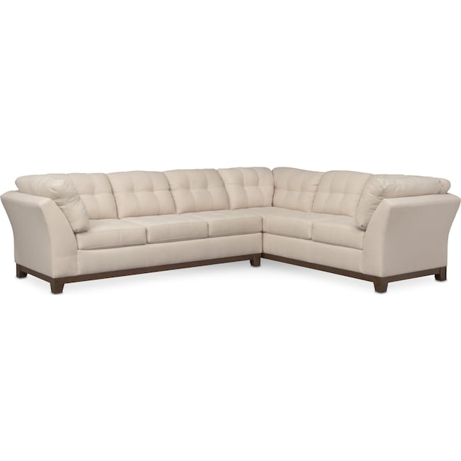 Living Room Furniture - Sebring 2-Piece Sectional with Left-Facing Sofa - Oyster