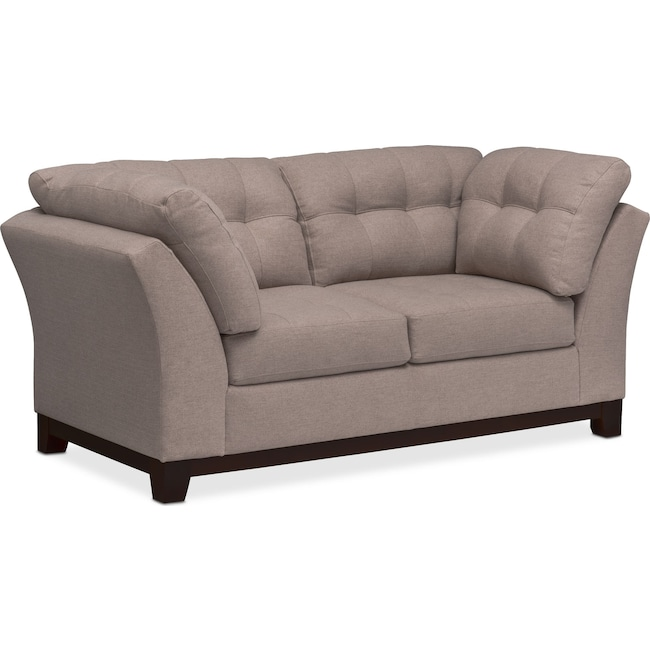 Living Room Furniture - Sebring Loveseat - Smoke