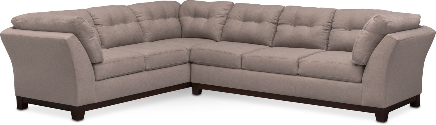Sebring 2-Piece Sectional with Right-Facing Sofa- Smoke