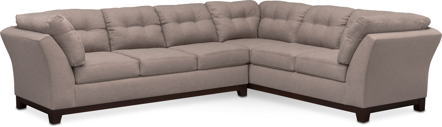 living room furniture sebring 2piece sectional with leftfacing sofa smoke