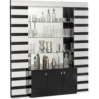 Spectra Wall Bar - Black and Mirror