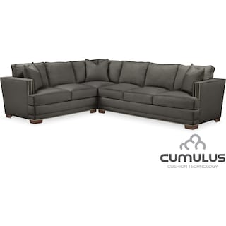 Arden Cumulus 2-Piece Sectional with Right-Facing Sofa - Stately L Sterling