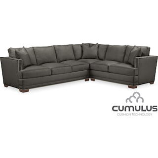 Arden Cumulus 2-Piece Sectional with Left-Facing Sofa - Sterling