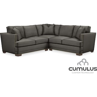 Arden Cumulus 2-Piece Sectional with Left-Facing Loveseat - Sterling