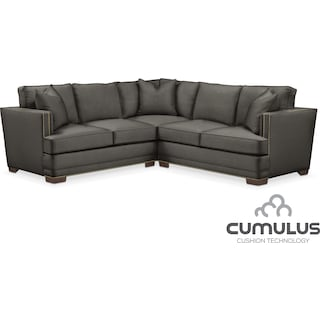 Arden Cumulus 2-Piece Sectional with Right-Facing Loveseat - Sterling