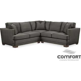 Arden Comfort 2-Piece Sectional with Left-Facing Loveseat - Sterling